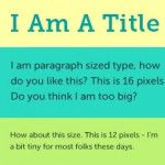 Needed paragraph size for websites