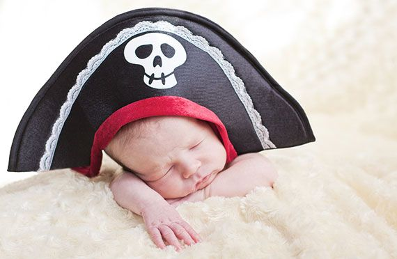 Baby with pirate hat