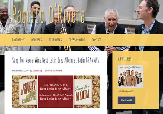 Paquito D'Rivera website