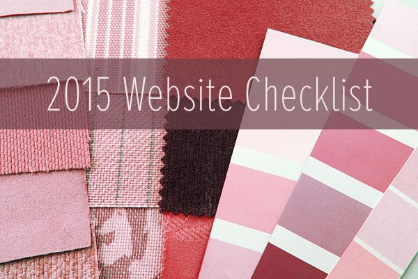 2015 Website Checklist