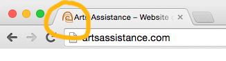 Favicon in a browser tab