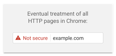 Google Not Secure Chrome Warning
